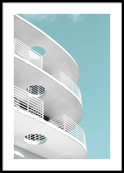 Art Deco Ocean Drive Poster in de groep Studio Collections / Studio Coast to Coast / Miami bij Desenio AB (10766)