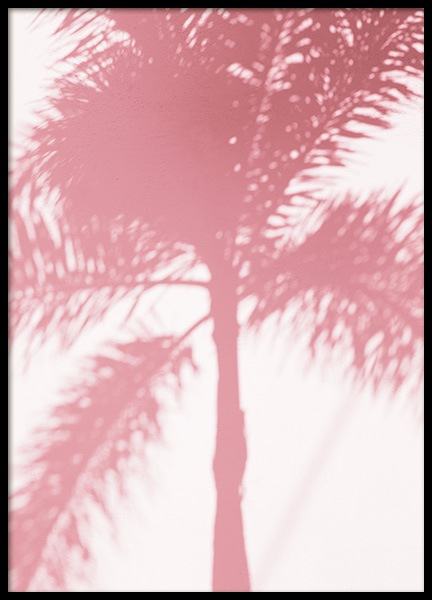 Pink Palm Shadow Poster in de groep Studio / Coast to coast / Studio Miami bij Desenio AB (10768)