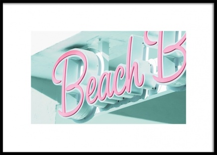 Miami Beach Neon Poster in de groep Studio Collections / Studio Coast to Coast / Miami bij Desenio AB (10774)