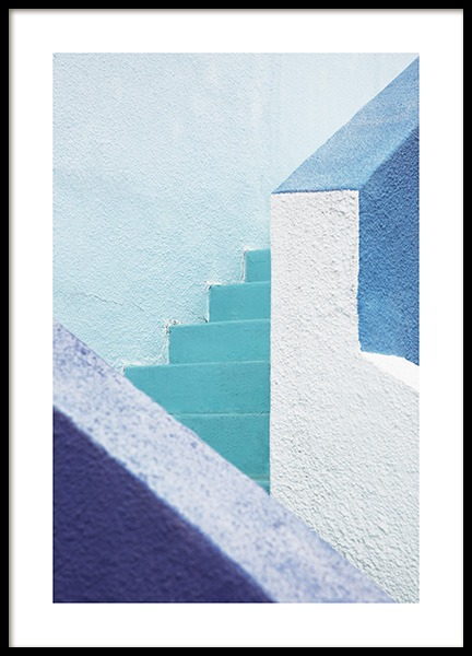 Blue Stairs Poster in de groep Studio Collections / Studio Coast to Coast / Miami bij Desenio AB (10775)
