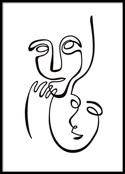 Abstract Line Duo Poster in de groep Posters / Illustraties bij Desenio AB (10839)