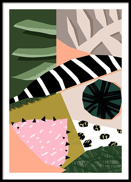 Abstract Garden No6 Poster in de groep Posters / Kunst bij Desenio AB (10942)