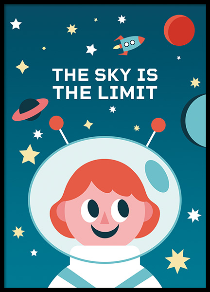 The Sky is the Limit Poster in de groep Posters / Kinderposters bij Desenio AB (11164)