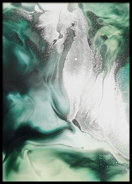 Abstract Green Painting Poster in de groep Posters / Kunst bij Desenio AB (11264)