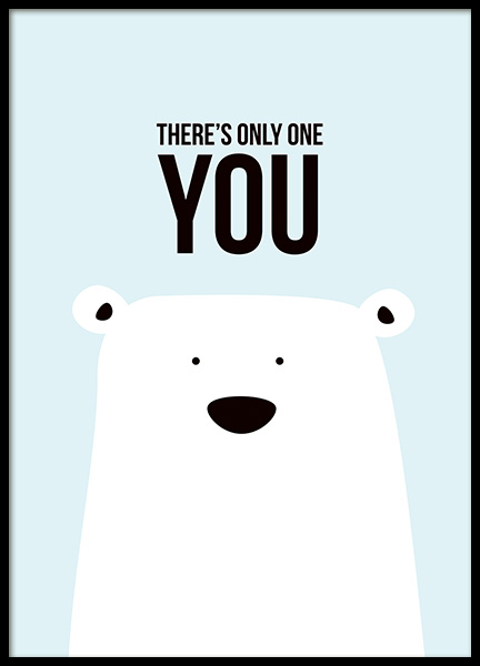 There's Only One You Poster in de groep Posters / Kinderposters bij Desenio AB (11289)