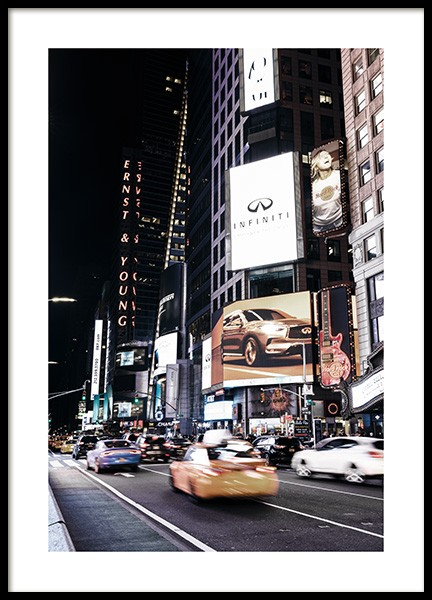 Times Square by Night Poster in de groep Posters / Fotokunst bij Desenio AB (11322)