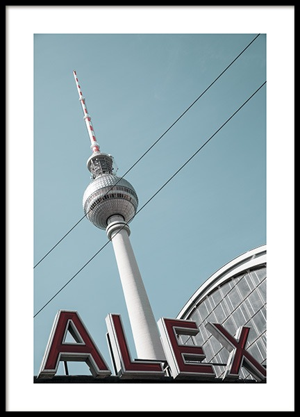 Alexanderplatz Poster in de groep Studio Collections / Studio Stadtkind / Berlin bij Desenio AB (11410)