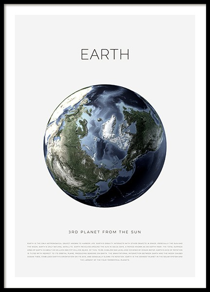 Planet Earth Poster in de groep Posters / Kinderposters bij Desenio AB (11440)