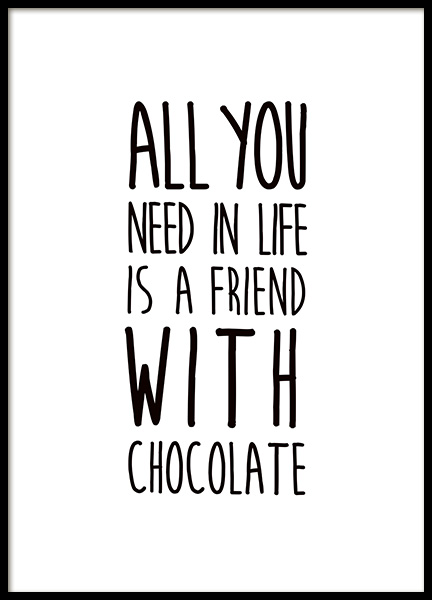 Friends and Chocolate Poster in de groep Posters / Kinderposters bij Desenio AB (11443)