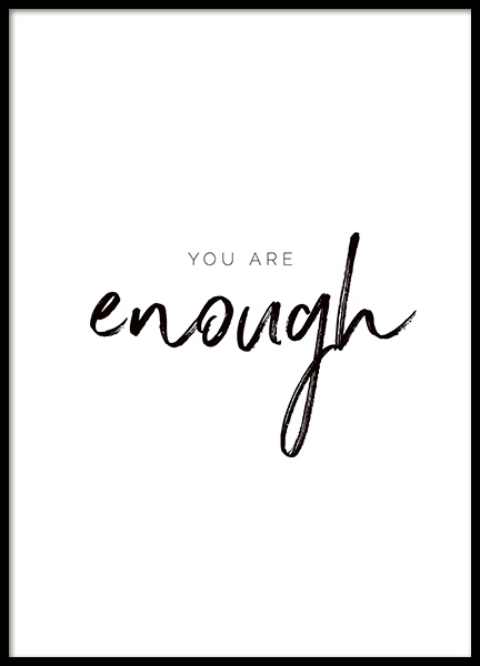 You are Enough Poster in de groep Posters / Posters met tekst bij Desenio AB (11468)