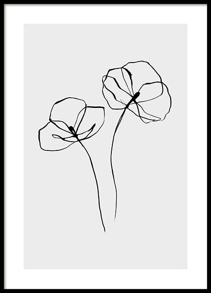 Line Flower No2 Poster in de groep Posters / Illustraties bij Desenio AB (11766)