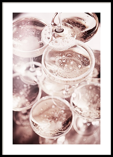 Champagne Blush Poster in de groep Posters / Keuken posters bij Desenio AB (11919)