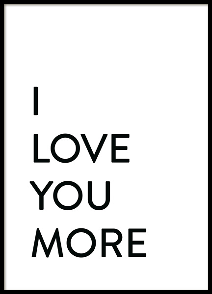 Each Day I Love You No2 Poster in de groep Posters / Posters met tekst bij Desenio AB (12009)