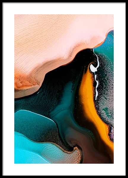 Abstract Inks No2 Poster in de groep Posters / Kunst / Abstracte kunst bij Desenio AB (12231)