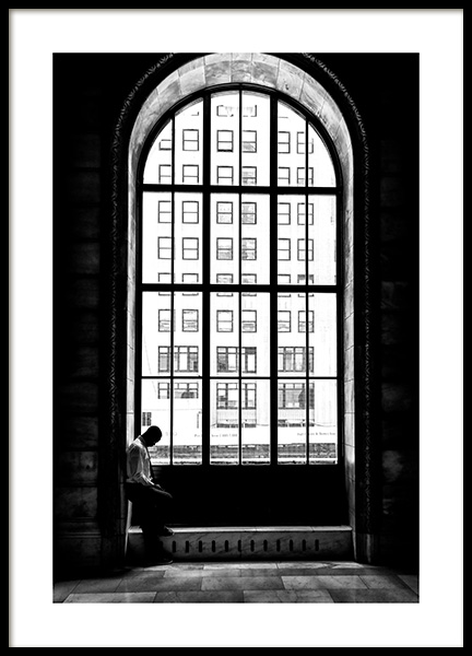 Man at the Window Poster in de groep Posters / Zwart wit bij Desenio AB (12288)