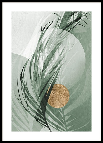 Graphic Palm Leaf No1 Poster in de groep Posters / Fotokunst bij Desenio AB (12587)