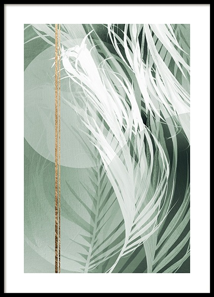 Graphic Palm Leaf No2 Poster in de groep Posters / Fotokunst bij Desenio AB (12588)