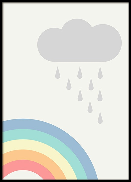 Rainbows and Clouds Poster in de groep Posters / Kinderposters bij Desenio AB (12687)