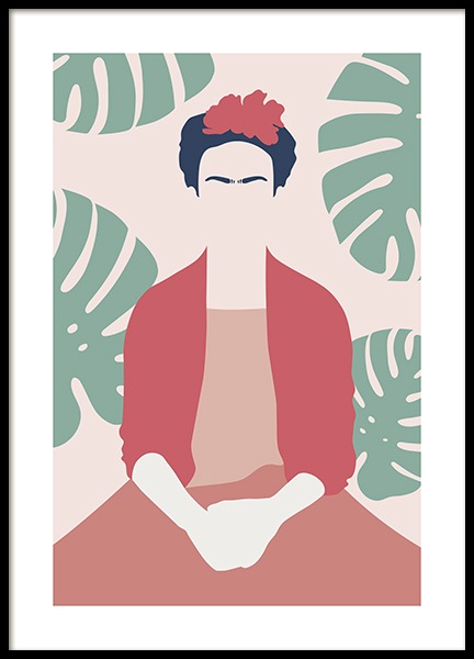 Frida Kahlo Abstract Poster in de groep Posters / Kunst bij Desenio AB (13095)