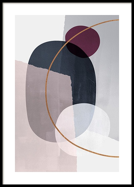 Abstract Color Blocks No2 Poster in de groep Posters / Kunst bij Desenio AB (13227)