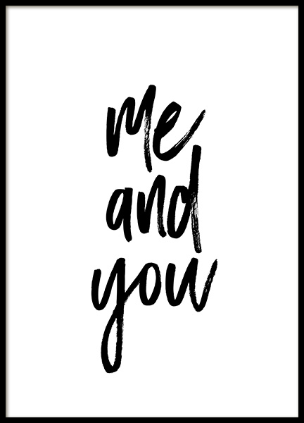 Me and You No1 Poster in de groep Posters / Posters met tekst bij Desenio AB (13334)