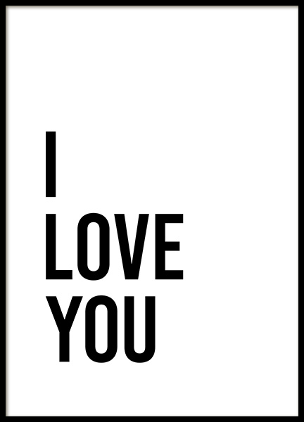 Dear Bed I Love You No2 Poster in de groep Posters / Posters met tekst bij Desenio AB (13337)