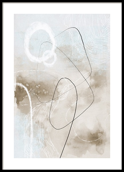 Soft Abstract Lines No2 Poster in de groep Posters / Kunst / Abstracte kunst bij Desenio AB (13676)