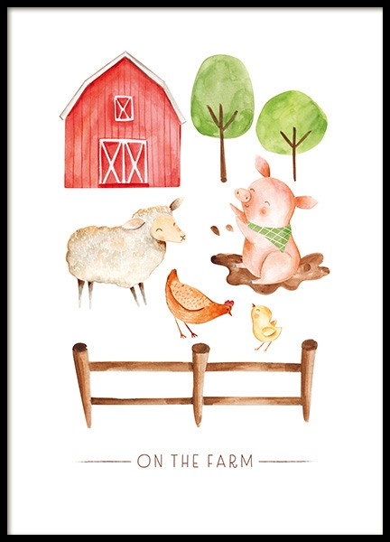 On the Farm No2 Poster in de groep  bij Desenio AB (13720)