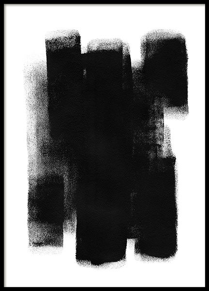Paint it Black No1 Poster in de groep Posters / Kunst / Abstracte kunst bij Desenio AB (13815)