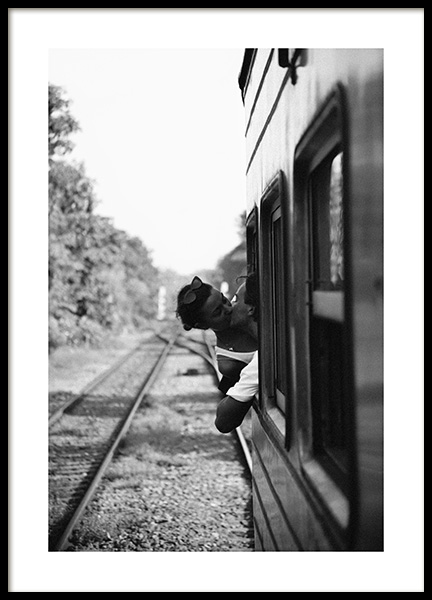 Kiss on the Train Poster in de groep Posters / Fotokunst bij Desenio AB (14091)