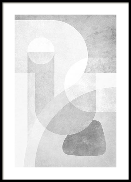 Grey Graphics No2 Poster in de groep Posters / Kunst / Abstracte kunst bij Desenio AB (14252)