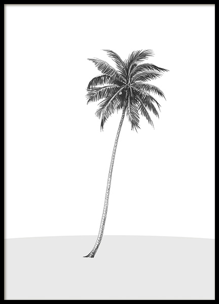 Lonely Palm Tree Poster in de groep Posters / Grafische posters bij Desenio AB (14564)