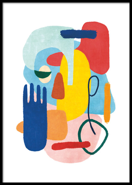 Colorful Abstract No2 Poster in de groep Posters / Kunst bij Desenio AB (14810)