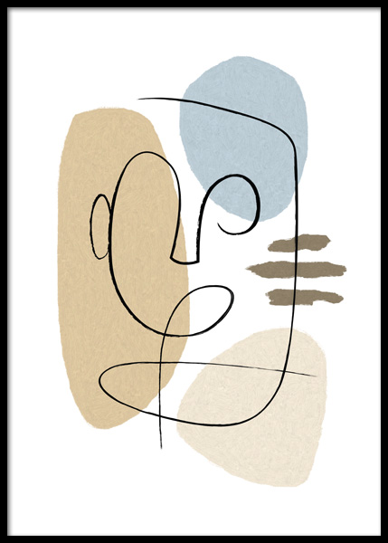 Abstract Forms No2 Poster in de groep Posters / Kunst bij Desenio AB (14812)