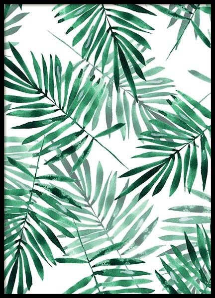 Palm Leaves Pattern Poster in de groep Posters / Kunst bij Desenio AB (2286)