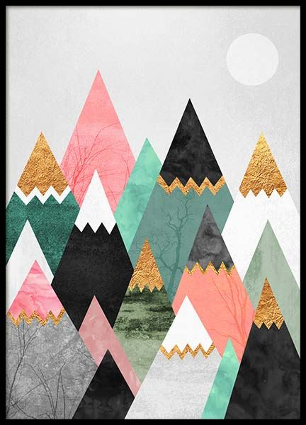 Pretty Mountains Poster in de groep Posters / Grafische posters bij Desenio AB (2379)