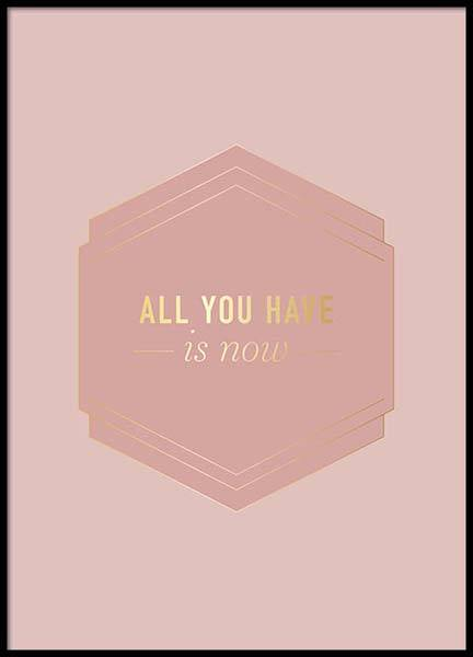 All You Have Pink Poster in de groep Posters / Posters met tekst bij Desenio AB (2852)