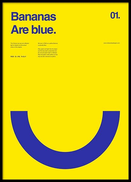 Bananas Are Blue Poster in de groep Posters / Grafische posters bij Desenio AB (2987)