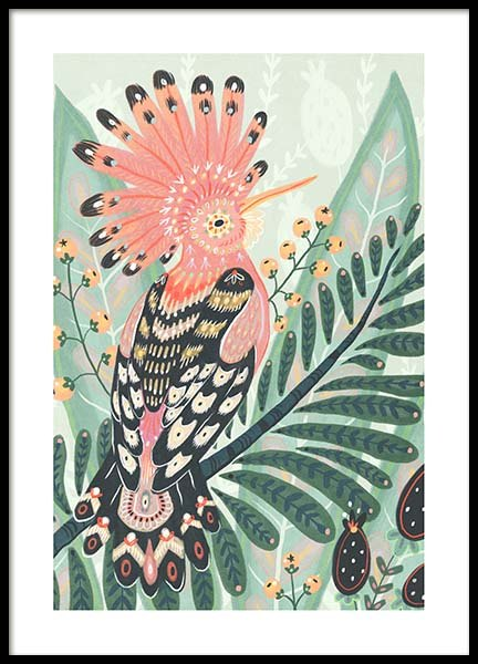 The Hoopoe Poster in de groep Posters / Illustraties bij Desenio AB (3204)