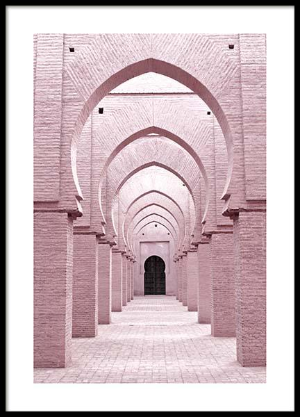 Pink Arches Poster in de groep Posters / Fotokunst bij Desenio AB (3555)