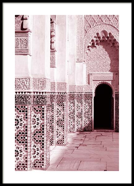 Pink Ornamental Architecture Poster in de groep Posters / Fotokunst bij Desenio AB (3557)