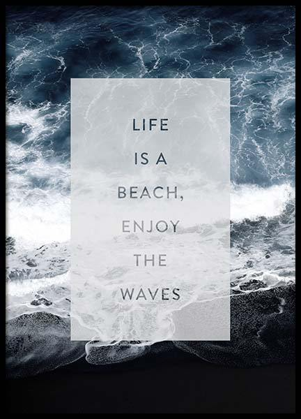 Enjoy The Waves Poster in de groep Posters / Posters met tekst bij Desenio AB (3883)