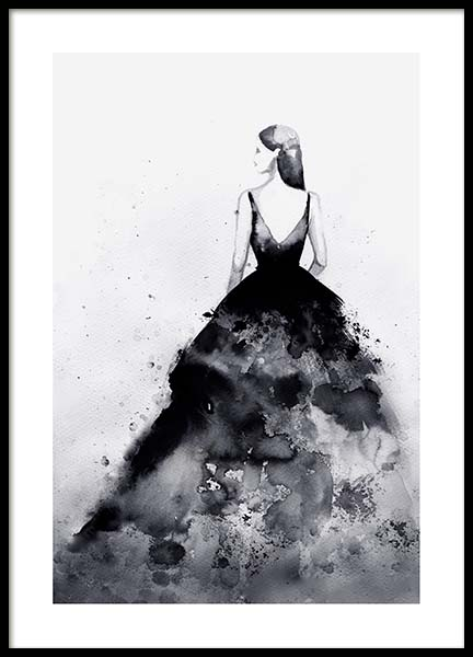 Dramatic Couture Poster in de groep Posters / Zwart wit bij Desenio AB (3899)