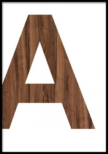 Wooden A, Posters in de groep Posters / Grafische posters bij Desenio AB (7635, posters)