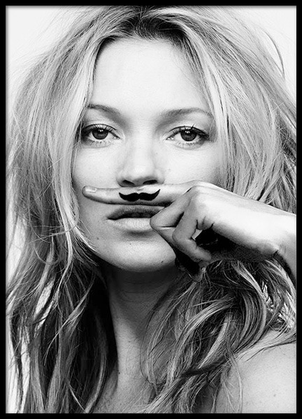 Kate Moss, Life Is A Joke, Poster in de groep Posters / Fashion bij Desenio AB (8422)