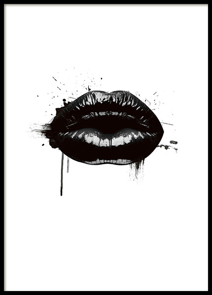 Fashion Lips, Posters in de groep Posters / Fashion bij Desenio AB (8490)