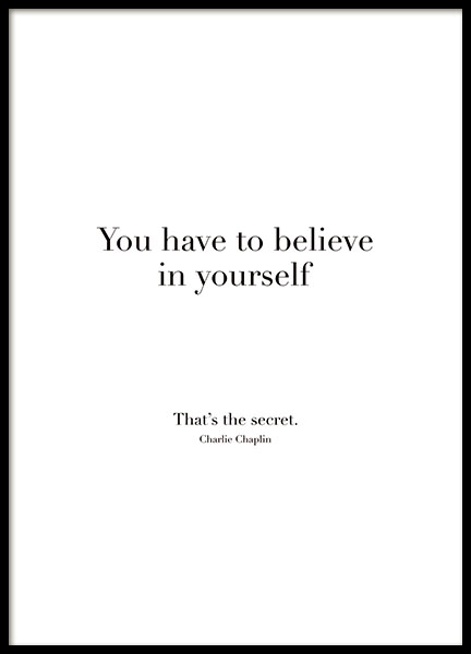 Believe In Yourself, Posters in de groep  bij Desenio AB (8504)