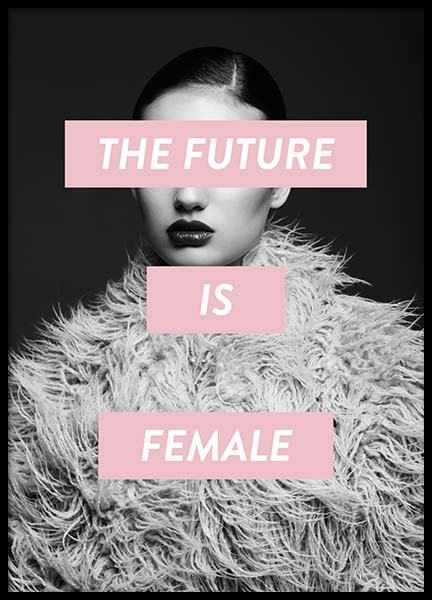 Future Is Female Poster in de groep Posters / Fashion bij Desenio AB (8834)