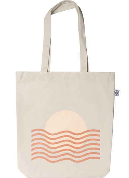 Sunset Waves Tote Bag in de groep Limited edition bij Desenio AB (TOTE50144)