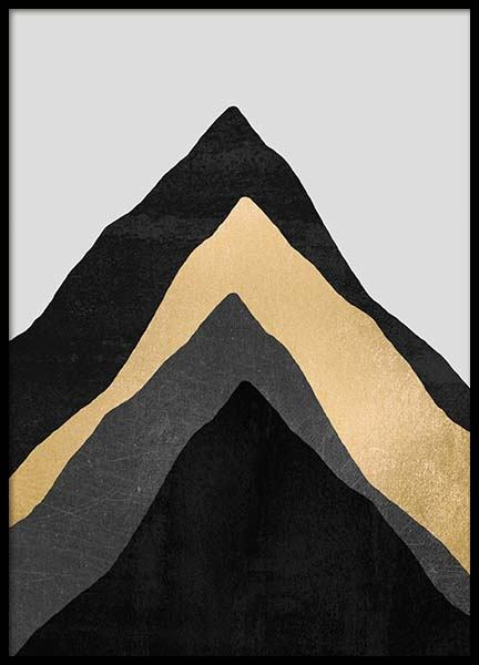 Four Mountains Poster in de groep Posters / Kunst bij Desenio AB (pre0022)